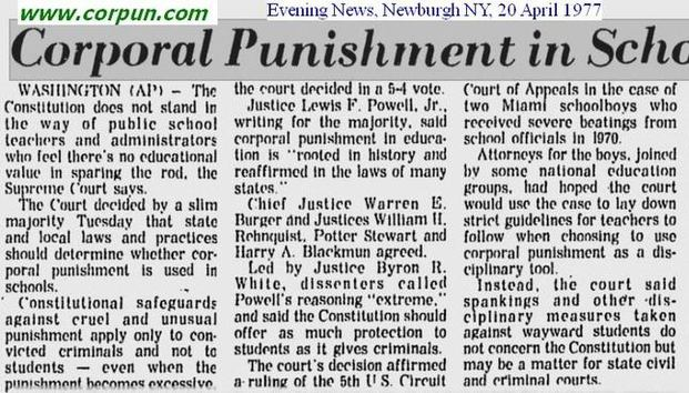 Essay punishment children